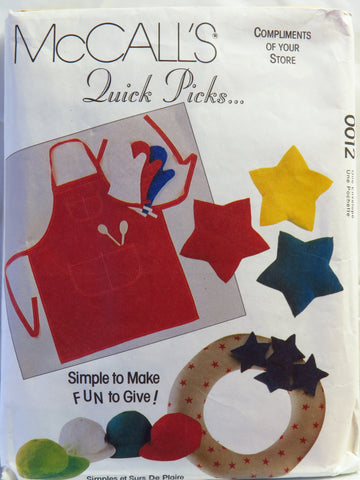 McCall's 0012 Crafts Gift Package -  - Smiths Depot Sewing Pattern Superstore
