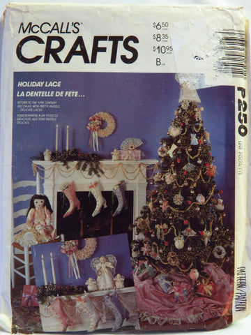 McCall's 0250 Holiday Lace Christmas Decorations -  - Smiths Depot Sewing Pattern Superstore