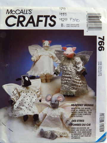 "McCall's 0766 15"" Angel Animals -  - Smiths Depot Sewing Pattern Superstore"