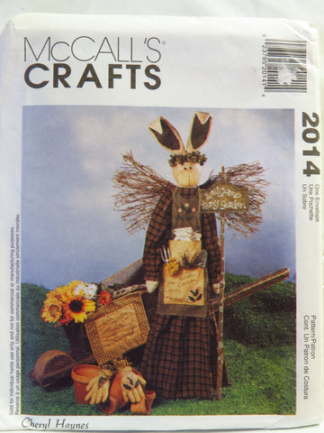 McCall's 2014 Garden Angel Bunny with Wall Hanging and Decorative Garden Gloves -  - Smiths Depot Sewing Pattern Superstore