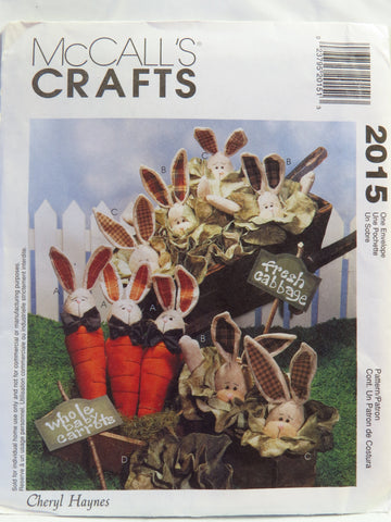 McCall's 2015 Carrot Bunny, Cabbage Bunny and Cabbage -  - Smiths Depot Sewing Pattern Superstore