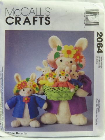 McCall's 2064 Easter Bunnies -  - Smiths Depot Sewing Pattern Superstore