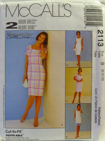 McCall's 2113 Misses' Dresses - B (8-10-12) - Smiths Depot Sewing Pattern Superstore