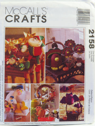 McCall's 2158 Seasonal Decorations -  - Smiths Depot Sewing Pattern Superstore