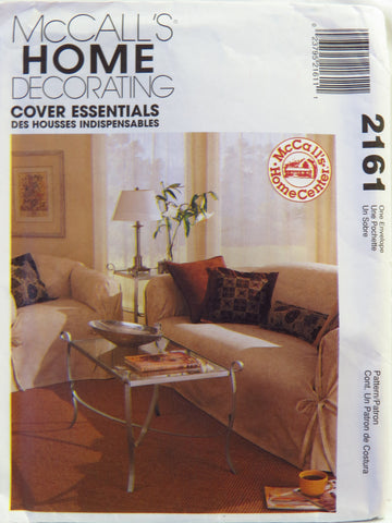 McCall's 2161 Slip Covers and Pillows -  - Smiths Depot Sewing Pattern Superstore