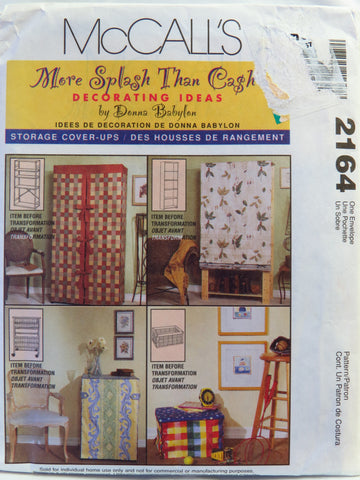 McCall's 2164 Storage Cover-Ups -  - Smiths Depot Sewing Pattern Superstore