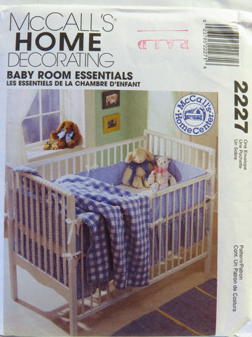 McCall's 2227 Baby Room Essentials -  - Smiths Depot Sewing Pattern Superstore