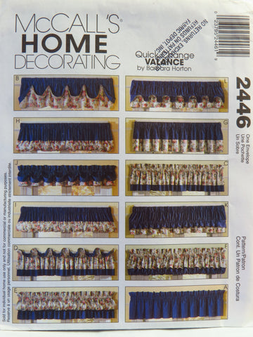 McCall's 2446 Quick Change Valance -  - Smiths Depot Sewing Pattern Superstore