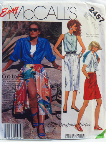 McCall's 2457 Misses' Skirts - A (6-8-10) - Smiths Depot Sewing Pattern Superstore