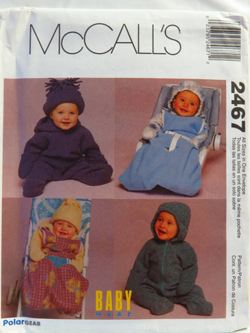 McCall's 2467 Infants' Bunting, Sac and Hat -  - Smiths Depot Sewing Pattern Superstore