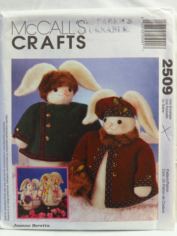 "McCall's 2509 18"" Boy and Girl Bunnies -  - Smiths Depot Sewing Pattern Superstore"