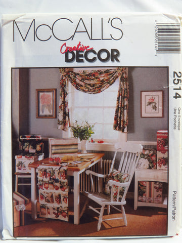 McCall's 2514 Home Accessories -  - Smiths Depot Sewing Pattern Superstore