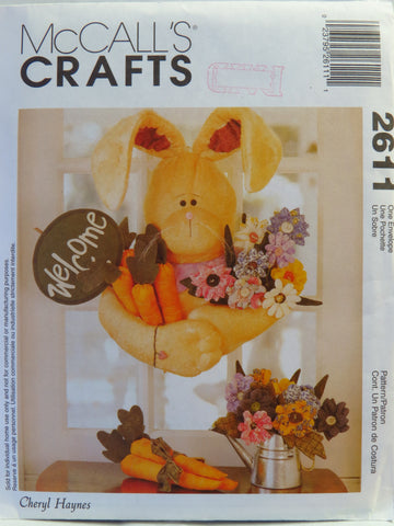 McCall's 2611 Welcome Bunny -  - Smiths Depot Sewing Pattern Superstore