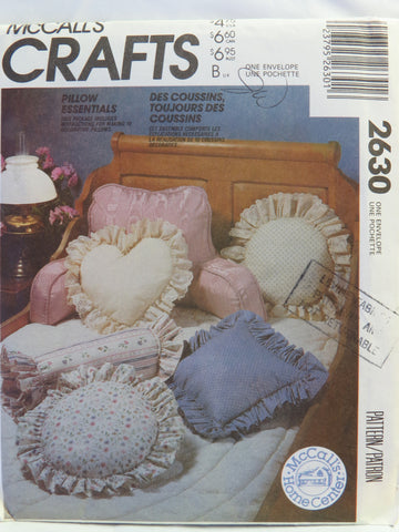 McCall's 2630 Pillow Essentials -  - Smiths Depot Sewing Pattern Superstore