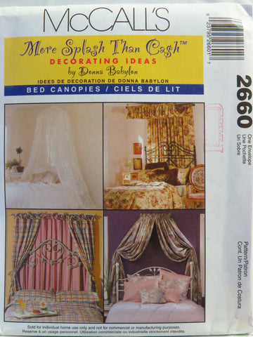 McCall's 2660 Bed Canopies -  - Smiths Depot Sewing Pattern Superstore