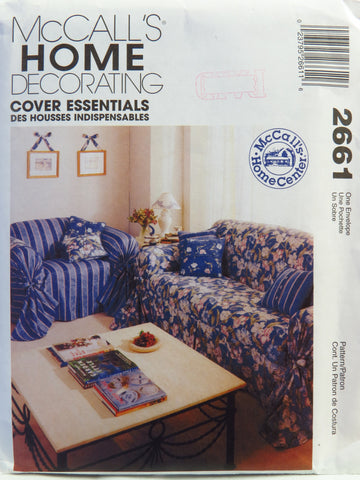 McCall's 2661 Slip Covers for Sofa and Chair -  - Smiths Depot Sewing Pattern Superstore