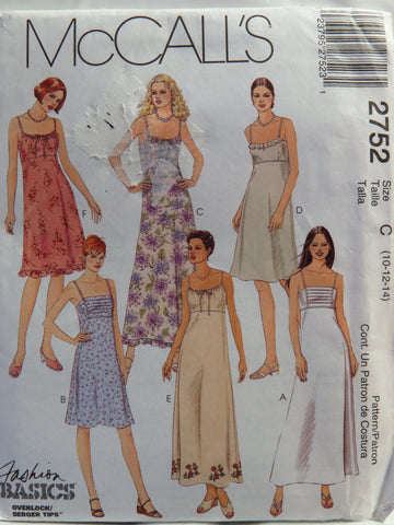 McCall's 2752 Misses' and Miss Petite Dress in Two Lengths - C (10-12-14) - Smiths Depot Sewing Pattern Superstore  - 1