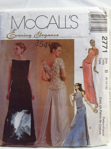 McCall's 2771 Misses' and Miss Petite Tops and Skirts - B (8-10-12) - Smiths Depot Sewing Pattern Superstore