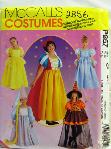 McCall's 0257 Children's and Girls' Storybook Costumes - CF (4-5-6) - Smiths Depot Sewing Pattern Superstore