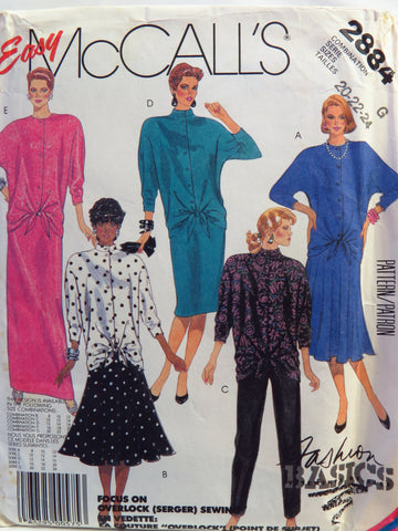 McCall's 2884 Misses' Top, Skirt and Pants - G (20-22-24) - Smiths Depot Sewing Pattern Superstore