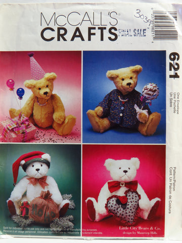 "McCall's 0621 18"" Jointed Bears. -  - Smiths Depot Sewing Pattern Superstore"