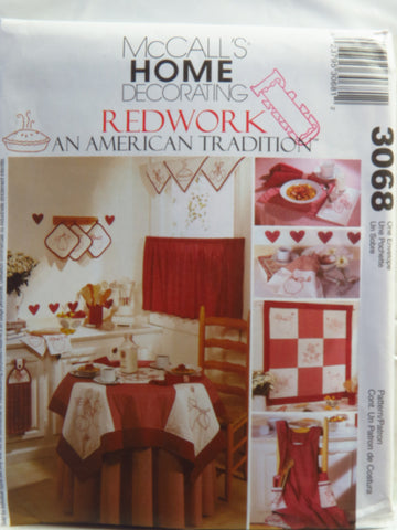 McCall's 3068 Embroidered Kitchen Accessories -  - Smiths Depot Sewing Pattern Superstore