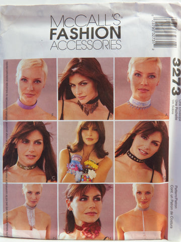 McCall's 3273 Fashion Accessories -  - Smiths Depot Sewing Pattern Superstore