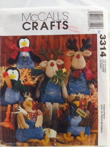 McCall's 3314 Blue Jean Buddies -  - Smiths Depot Sewing Pattern Superstore