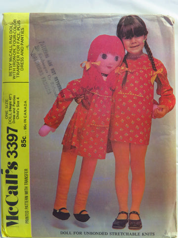 Mccalls 3397 41 Betsy Mccall Rag Doll Smiths Depot Sewing