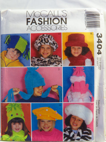 McCall's 3404 Fashion Accessories -  - Smiths Depot Sewing Pattern Superstore