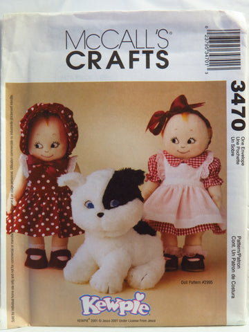 McCall's 3470 Retro Kewpie® Clothes and Doodles the Dog -  - Smiths Depot Sewing Pattern Superstore