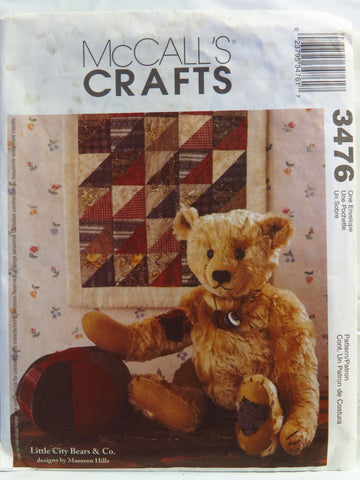 McCall's 3476 Bear, Mini Quilt and Ball -  - Smiths Depot Sewing Pattern Superstore