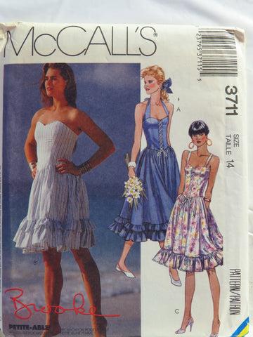 McCall's 3711 Misses' Dress - 14 - Smiths Depot Sewing Pattern Superstore