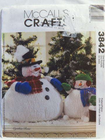 McCall's 3842 Chubby Snowman and Snow Child -  - Smiths Depot Sewing Pattern Superstore