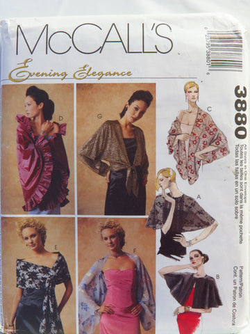 McCall's 3880 Misses' Wraps -  - Smiths Depot Sewing Pattern Superstore