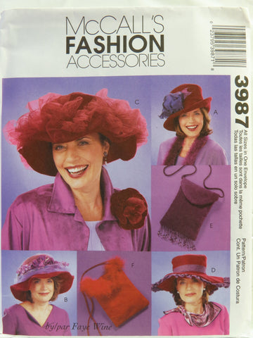 McCall's 3987 Hats and Purses -  - Smiths Depot Sewing Pattern Superstore