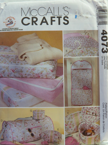 McCall's 4073 Closet and Travel Accessories -  - Smiths Depot Sewing Pattern Superstore