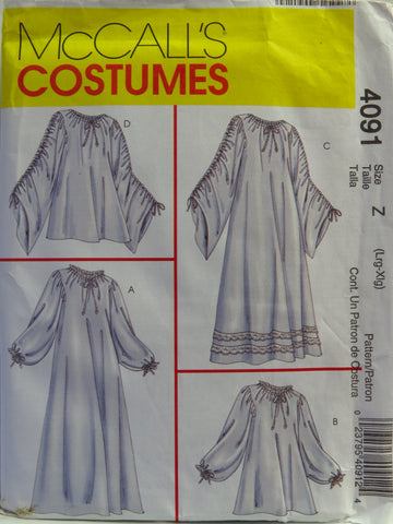 Mccalls 4091 Misses Chemise In Two Lengths Costume Smiths Depot