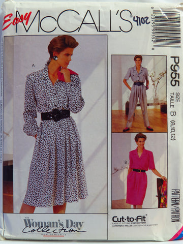 McCall's 0955 Misses' Dress and Jumpsuit - B (8-10-12) - Smiths Depot Sewing Pattern Superstore