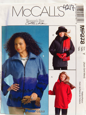 McCall's 0278 Misses'/Miss Petite Unlined Jackets and Hat in Three Sizes - Y (XSM-S-M) - Smiths Depot Sewing Pattern Superstore