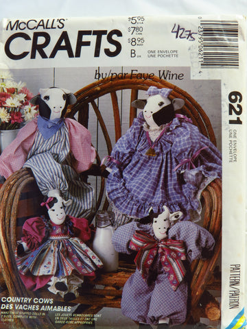 McCall's 0621 Country Cows Doll Collection -  - Smiths Depot Sewing Pattern Superstore