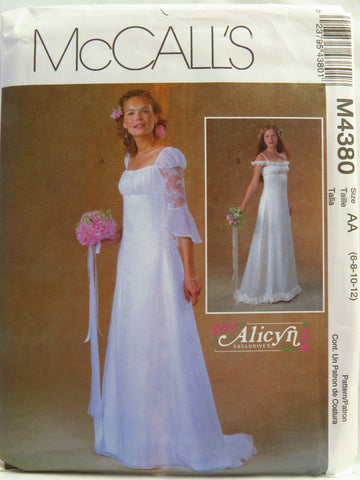 McCall's 4380 Misses'/Miss Petite Lined Bridal Gown and Bridesmaid Dress - AA (6-8-10-12) - Smiths Depot Sewing Pattern Superstore  - 1