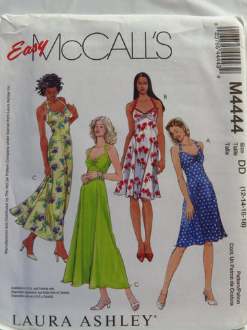 McCall's 4444 Misses'/Miss Petite Dresses in Two Lengths - DD (12-14-16-18) - Smiths Depot Sewing Pattern Superstore