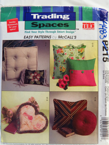 McCall's 0215 Trading Spaces™ Pillows -  - Smiths Depot Sewing Pattern Superstore