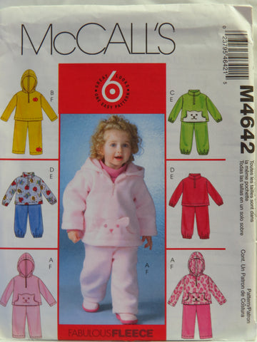 McCall's 4642 Toddlers' Unisex Tops and Pants -  - Smiths Depot Sewing Pattern Superstore