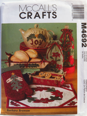 McCall's 4692 Christmas Gift Items -  - Smiths Depot Sewing Pattern Superstore