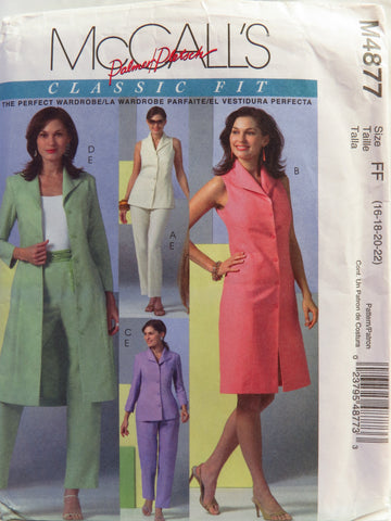 McCall's 4877 Misses' Top, Dress, Duster, and Pants - FF (16-18-20-22) - Smiths Depot Sewing Pattern Superstore