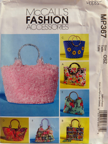 McCall's 0367 Handbags and Purses -  - Smiths Depot Sewing Pattern Superstore