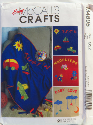McCall's 4895 Fleece Blankets -  - Smiths Depot Sewing Pattern Superstore