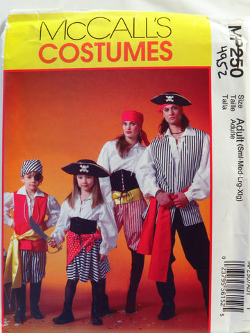 McCall's 0250 Unisex Costume - Adult (S-M-L-XL) - Smiths Depot Sewing Pattern Superstore